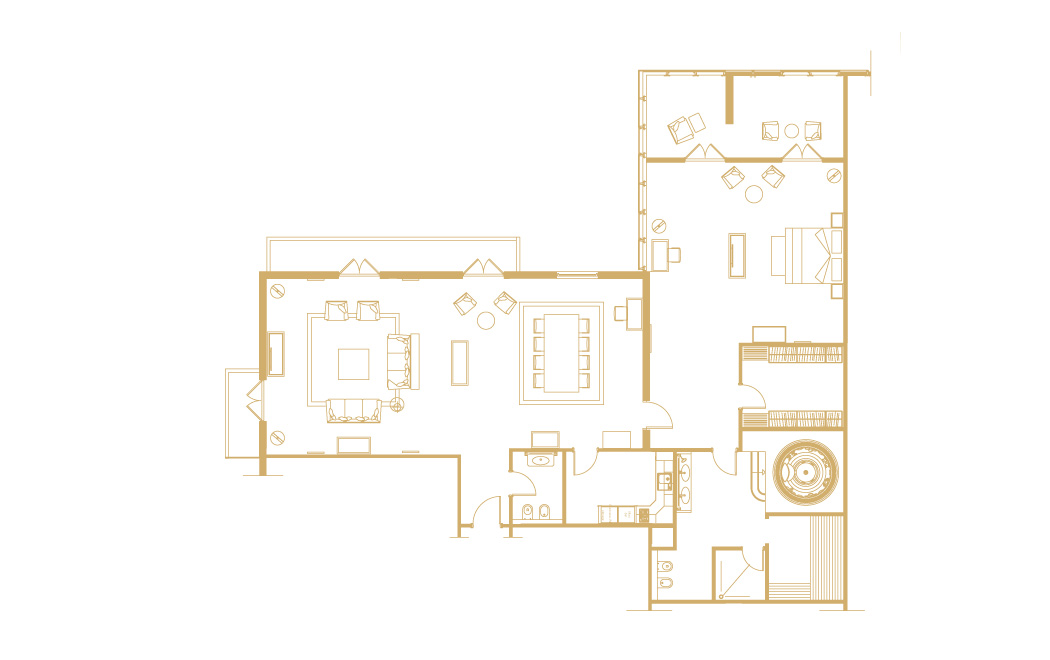Penthouse Suite Floor Plan